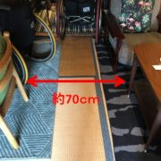 奥の席まで行く際の通路は約70cm