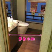 トイレ入口幅56㎝。